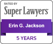 Rated by Super Lawyers - Erin G. Jackson - 5 Years